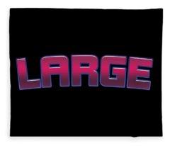 Large City Digital Art Fleece Blankets