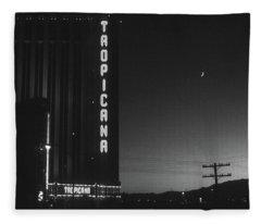 Las Vegas 1984 Bw #1 Fleece Blanket