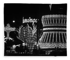 Las Vegas 1984 Bw #2 Fleece Blanket