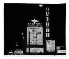Las Vegas 1984 Bw #4 Fleece Blanket