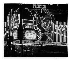 Las Vegas 1984 Bw #5 Fleece Blanket