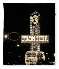 Las Vegas 1984 Sepia #12 Fleece Blanket