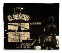 Las Vegas 1984 Sepia #13 Fleece Blanket