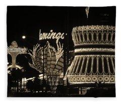 Las Vegas 1984 Sepia #2 Fleece Blanket