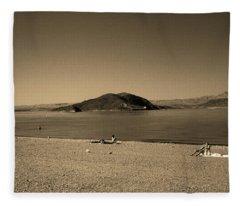Las Vegas 1984 Sepia #6 Fleece Blanket