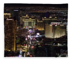 Las Vegas View From Stratosphere 1 Fleece Blanket