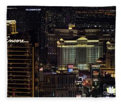 Las Vegas View From Stratosphere 2 Fleece Blanket