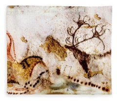Lascaux Cows Horses And Deer Fleece Blanket
