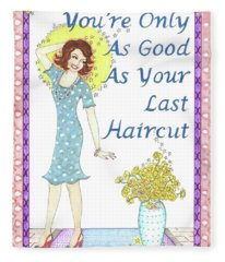 Last Haircut Fleece Blanket
