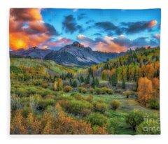 Last Light Mount Sneffels Fleece Blanket