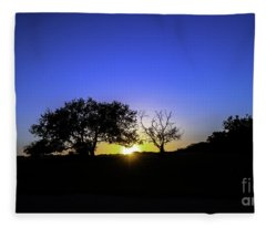 Last Light Texas Hill Country Paradise Canyon Sunset 8053a Fleece Blanket