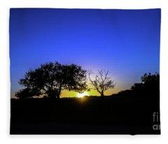 Last Light Texas Hill Country Paradise Canyon Sunset 8053a1 Fleece Blanket