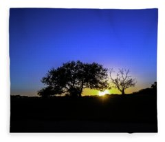 Last Light Texas Hill Country Paradise Canyon Sunset 8053a1 Fleece Blanket