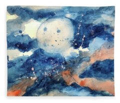 Last Nights Magic Moon Fleece Blanket