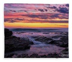 Last Sunset Of 2018 Fleece Blanket