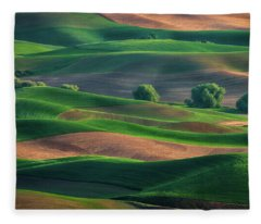 Late Afternoon In The Palouse Fleece Blanket