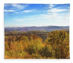 Late Autumn In Vermont. Fleece Blanket