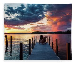 Late Summer Storm. Fleece Blanket