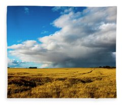 Late Summer Storm With Tornado Fleece Blanket