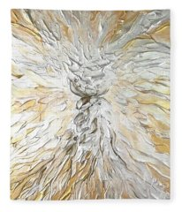 Latte Stone Of Light Fleece Blanket