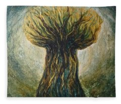 Latte Stone Taotaomona Tree Fleece Blanket