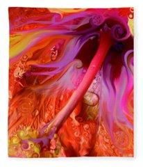 Laughing Hibiscus Fleece Blanket