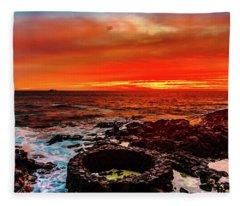Lava Bath After Sunset Fleece Blanket