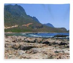 Lava Rocks Of Balos Fleece Blanket