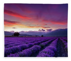 Lavender Season Fleece Blanket
