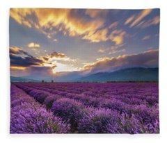 Lavender Sun Fleece Blanket
