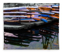Layers And Layers By The Water Fleece Blanket