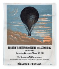 Le Ballon Aeronautical Journal, 1883 French Poster Fleece Blanket