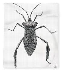 Leaf Footed Bug Fleece Blanket