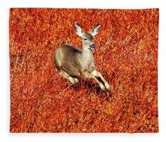 Leaping Deer Fleece Blanket