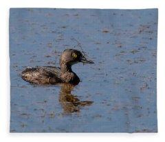 Least Grebe Fleece Blanket