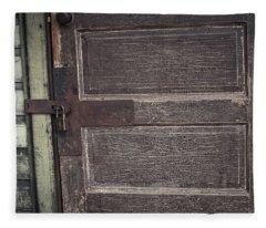 Leather Door Fleece Blanket