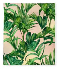 Leaves Collection Fleece Blanket