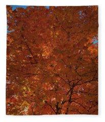Leaves Of Fire Fleece Blanket