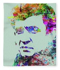 Legendary Johnny Cash Watercolor Fleece Blanket