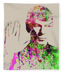 Legendary Spock Watercolor Fleece Blanket