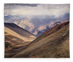 Fleece Blanket featuring the photograph Leh-manali Mountains by Whitney Goodey