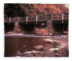 Lehigh Parkway Robin Hood Bridge - Impressionism Fleece Blanket