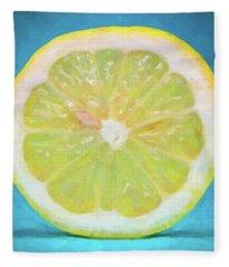 Lemon Fleece Blanket
