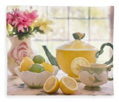 Lemon Tea  Fleece Blanket