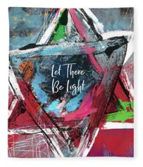 Let There Be Light Expressionist Star- Art By Linda Woods Fleece Blanket