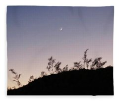 Fleece Blanket featuring the photograph Libra Twilight Crescent by Judy Kennedy