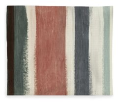 Library- Art By Linda Woods Fleece Blanket