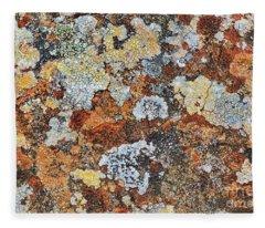 Lichen On Rock Fleece Blanket