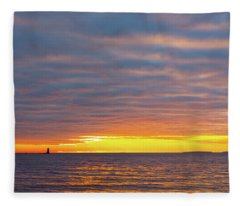 Light On The Horizon Fleece Blanket