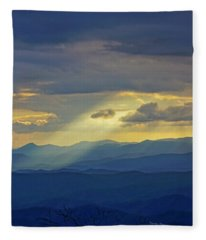 Light Rays Fleece Blanket